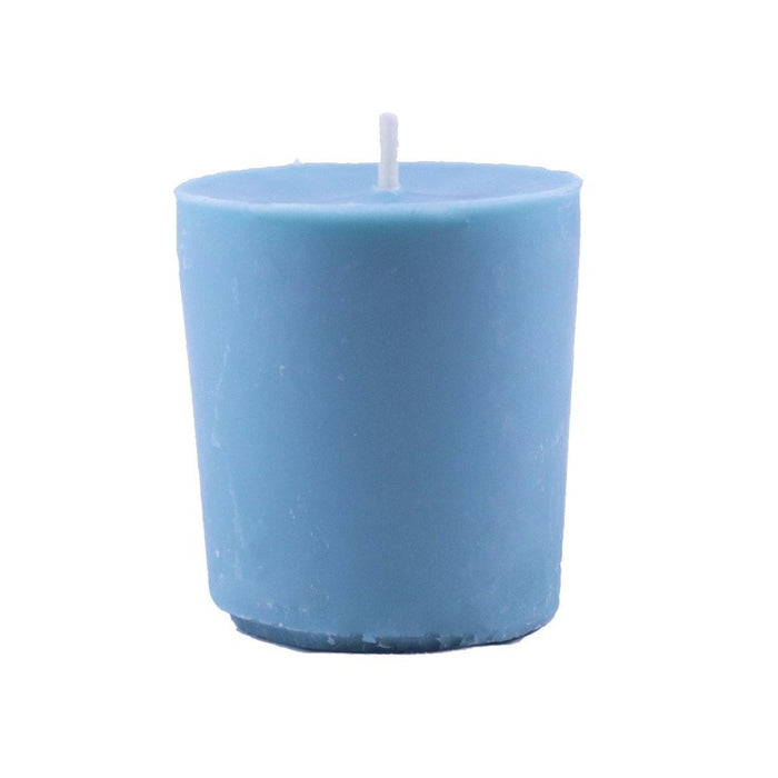 Eucalyptus scented beeswax and soy wax votive candle, beeswax and soy wax blend. - Candlestock.com