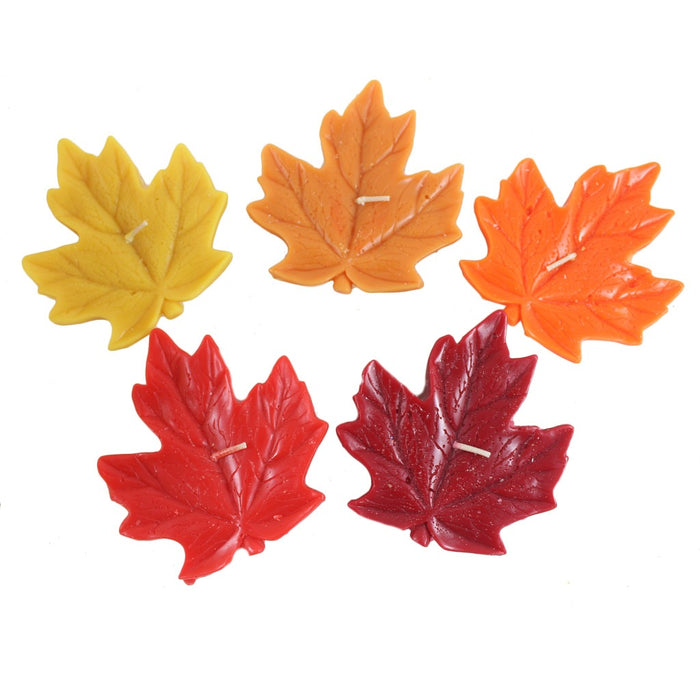 Maple Leaf Floating Candle - Candlestock.com
