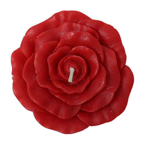 Red rose floating candle. Floating event flower candles. - Candlestock.com