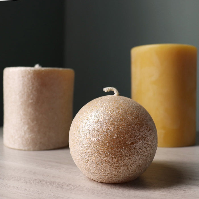 Beeswax Glittering Ball Candle