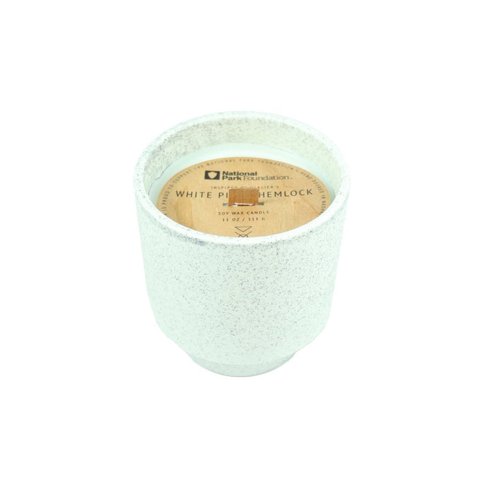 Glacier Scented Soy Wax and Wooden Wick Jar Candle - Candlestock.com