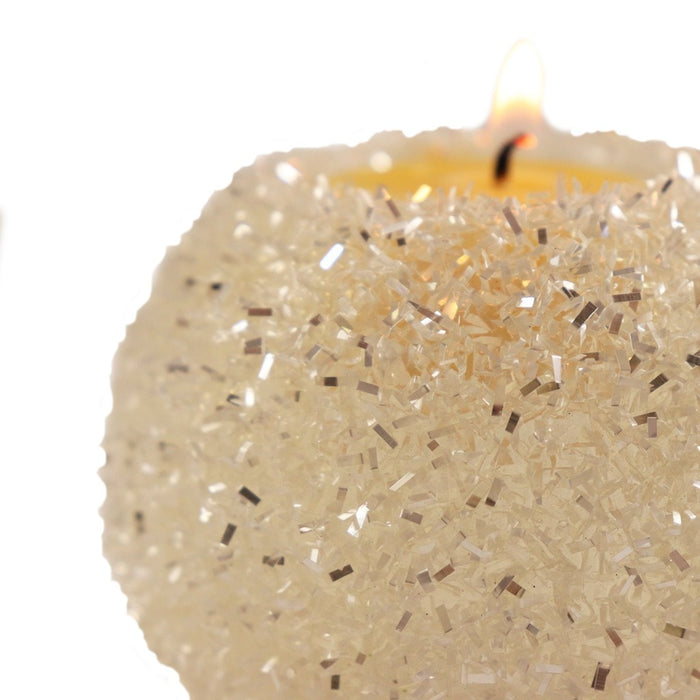 Add shimmer to your holiday decorations with this snowball tea light candle holder - Candlestock.com