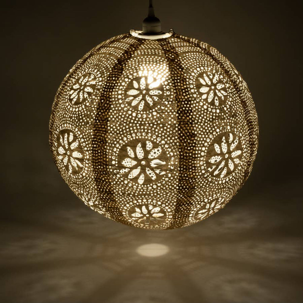 Boho Pearl Indoor/Outdoor Hangng Globe Lamp - 18 inches