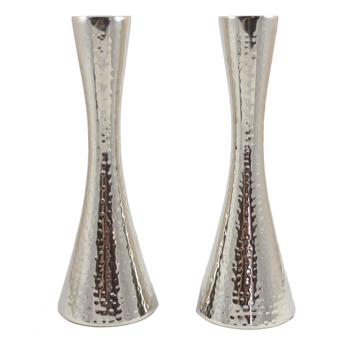 Hammered Metal Taper Candle Holder Pair - Candlestock.com