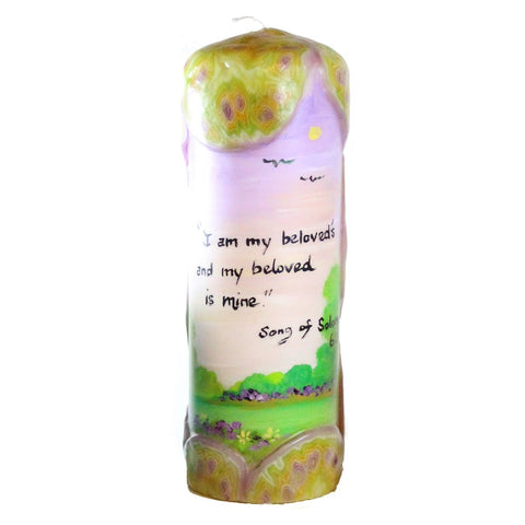 "Quote Candle - ""I am my beloved's and my beloved is mine"" Song Of Solomon 6:3"