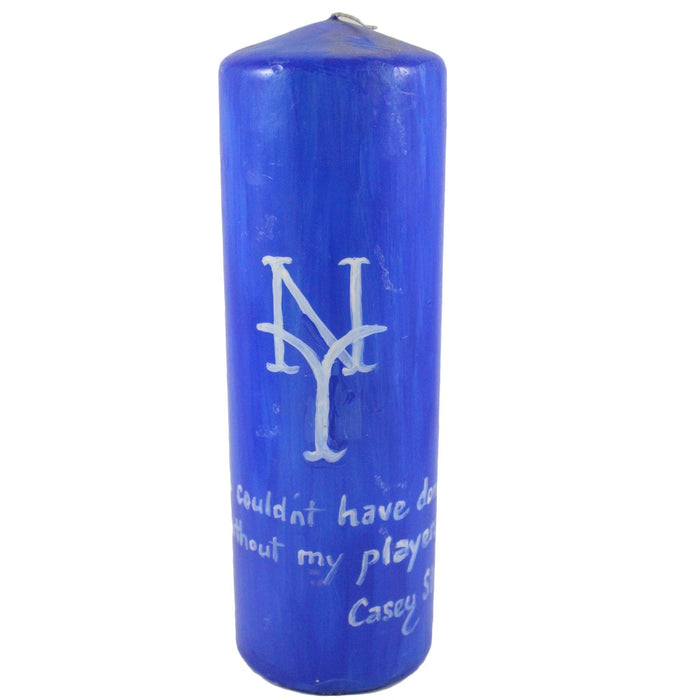 "Quote Pillar Candle - ""I couldn't have done it without my players"" Casey Stengel - Candlestock.com"