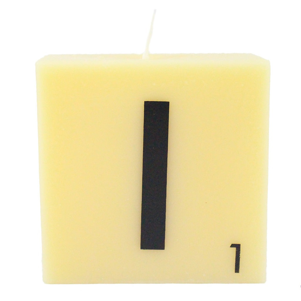 Scrabble Letter Candles Candlestock