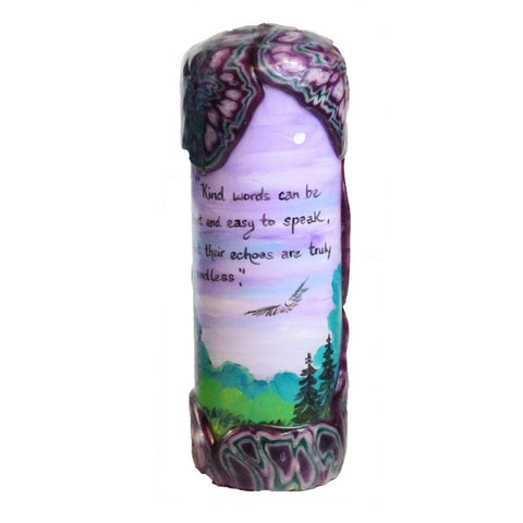 "Quote Candle - ""Kind words can be short and easy to speak, but their echoes are truly endless"" Mother Teresa"