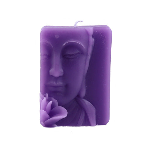 Lavender Buddha Relief Candle - Novelty Candle - Candlestock.com
