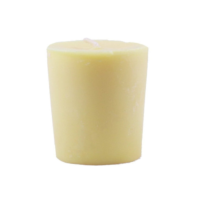Lemongrass essential oil scented beeswax and soy wax blended votive candle - Candlestock.com