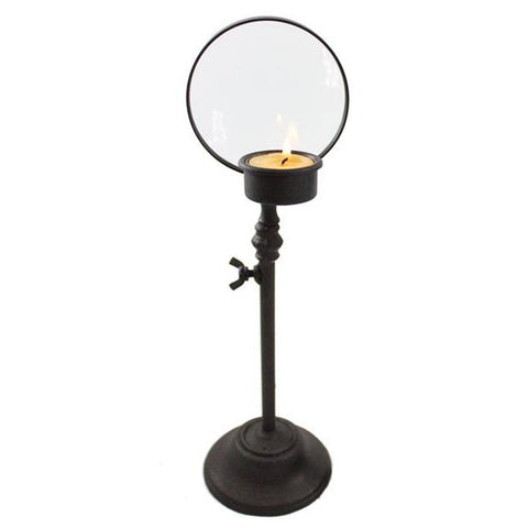 Iron Magnify Glass Tea Light Candle Holder - Candlestock.com