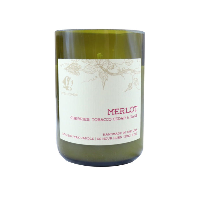 Merlot Scented Soy Wax Jar Candle - Wine Lover Gifts - Candlestock.com