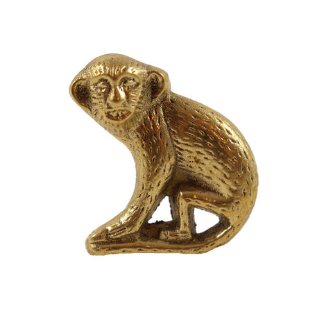 Add a fun flare to your drawer, kitchen cabinets or closet with this metal monkey knob. - Candlestock.com
