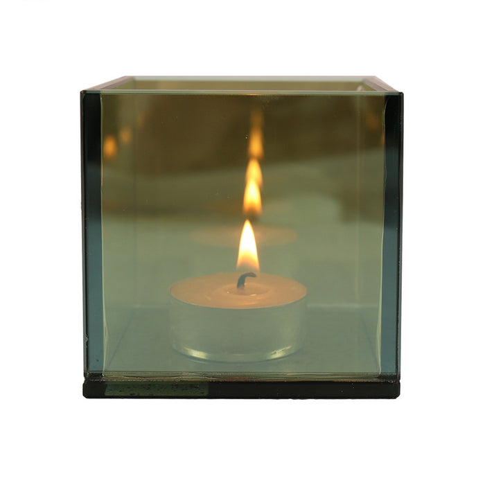 Relax by endless tea light candle light with this mirror candle holder - Candlestock.com