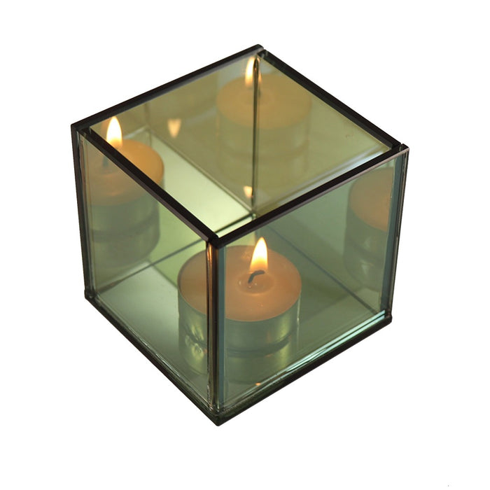 Modern Mirror Cube Tea Light Candle Holder - Candle Home Decor - Candlestock.com