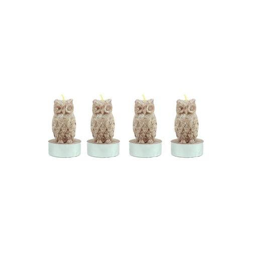 Brown Owl Tea Light Candle - 4 Pack