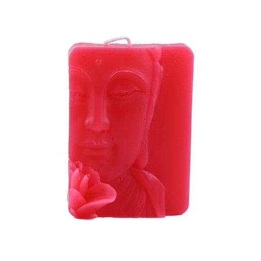 Pink Buddha Relief Candle - Candlestock.com