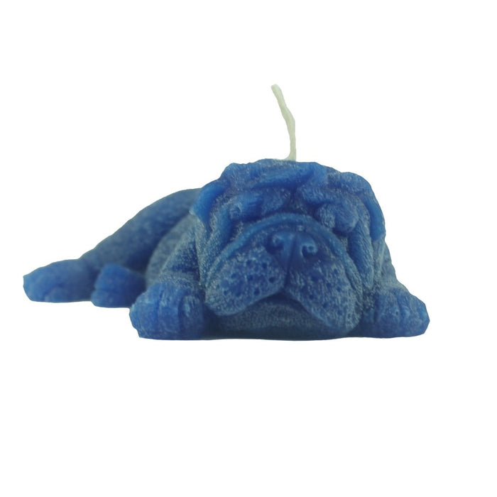 Candlestock's handmade novelty candle is perfect as a goody bag party favor or children's gift. Powder Blue Dog Candle - Candlestock.com