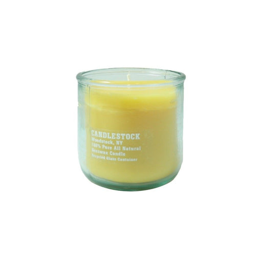 12 ounce pure beeswax jar candle. - Candlestock.com