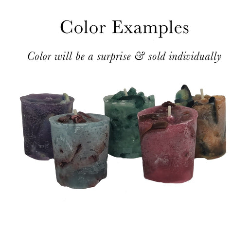 Our handmade recycled wax votive candles come in a variety of colors and shapes. - Candlestock.com