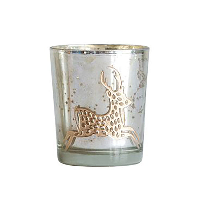 Holiday Mercury Glass Tea Light Candle Holders