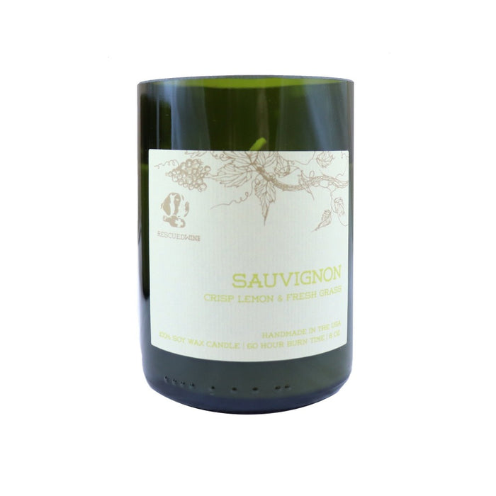 Sauvignon Scented Soy Wax Candle - White Wine Lover Gifts - Candlestock.com