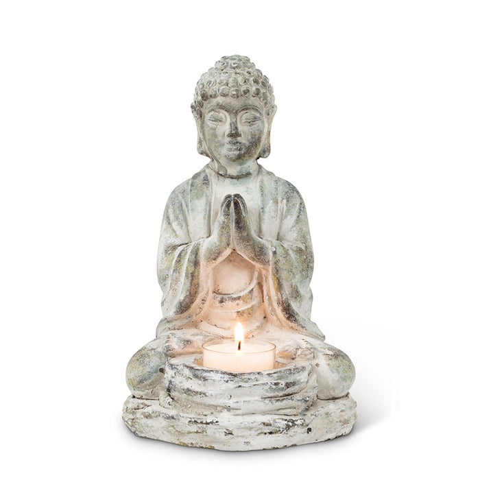 Cement Buddha Tea Light Candle Holder
