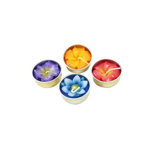 Flower Tea Light Candle Gift Bundle