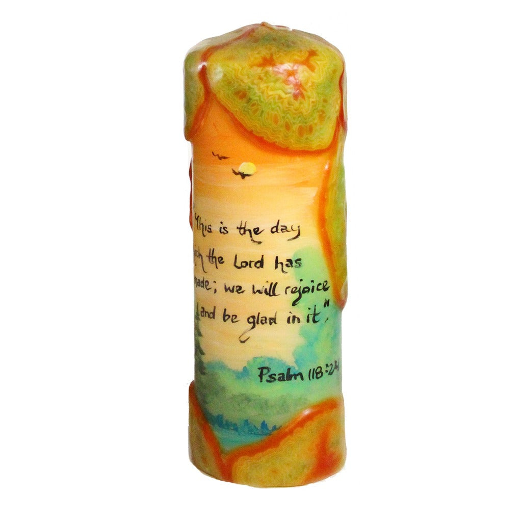 "Quote Candle - ""This is the day which the Lord hath made; we will rejoice and be glad in it""  Psalm 118:24"