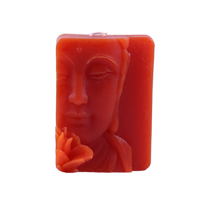 Orange Buddha Relief Candle - Handmade Candles - Candlestock.com