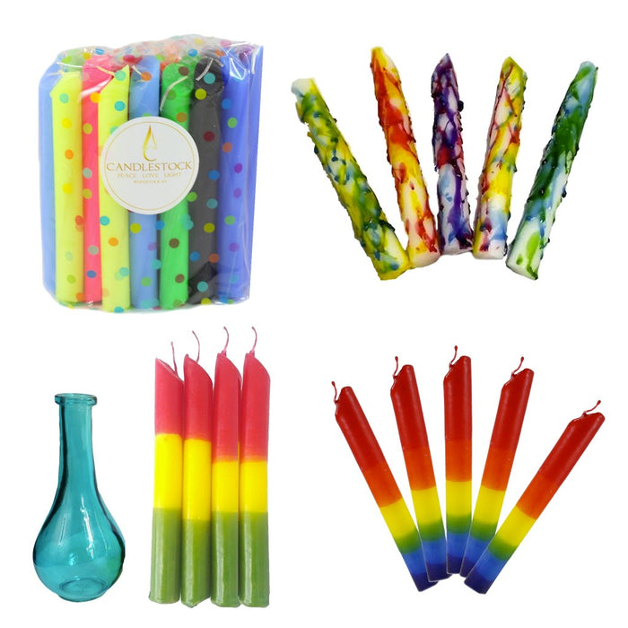 Ultimate Drip Candle Bundle - Shop dripping candles that are perfect for creating colorful wax drips. - Candlestock.com