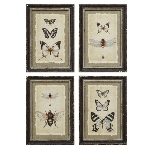 Hanging framed wall art pieces, set of 4 framed hanging wall decor - Candlestock.com