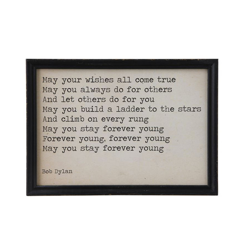 Bob Dylan Wall Art - Bob Dylan Wall Quotes - Decorative Framed Quotes - Candlestock.com