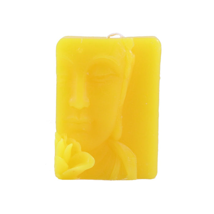 Yellow Buddha Relief Candle - Handmade Novelty Candles - Candlestock.com