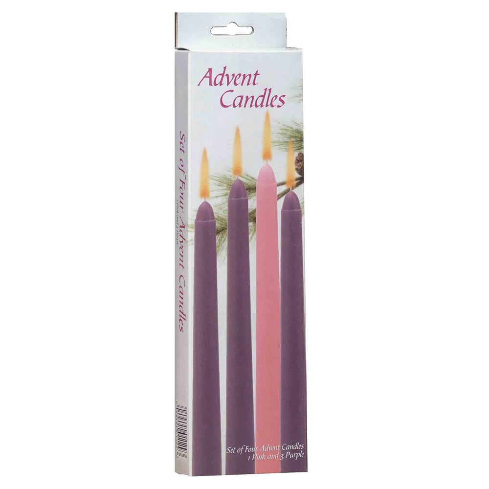 Box Of Advent Taper Candles - Candlestock.com