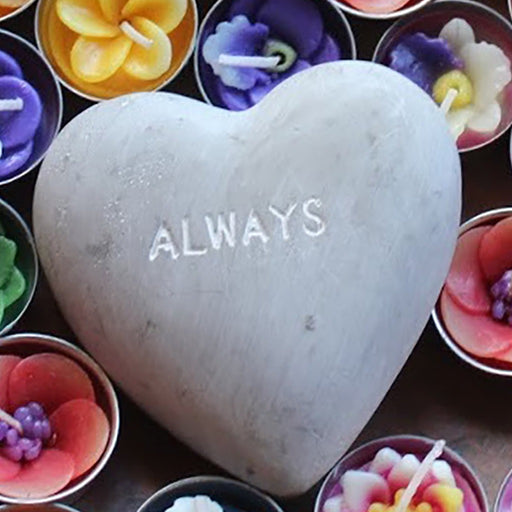 Spreading Love - Cement Heart - Loved Always - Candlestock.com