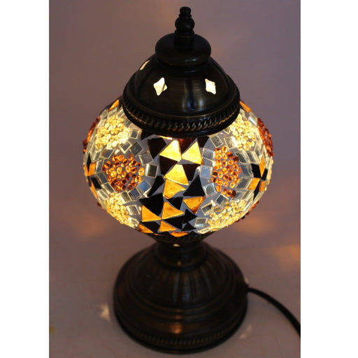 Amber Mosaic Table Lamp - Candlestock.com