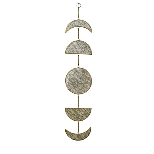 Brass Antique Phases Of The Moon Mirrorr