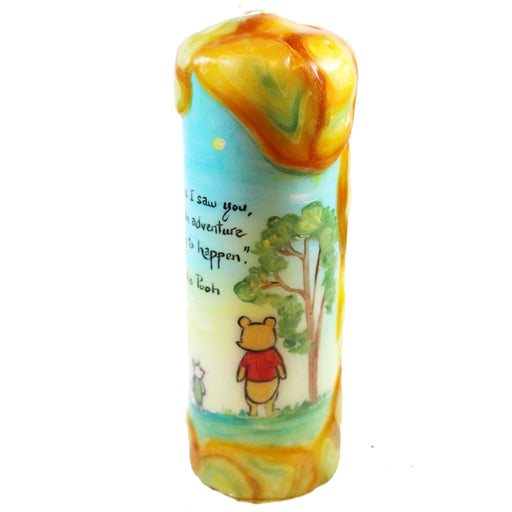 "Quote Pillar Candle - ""As soon as I saw you, I knew an adventure was going to happen"" Winnie the Pooh - Candlestock.com"