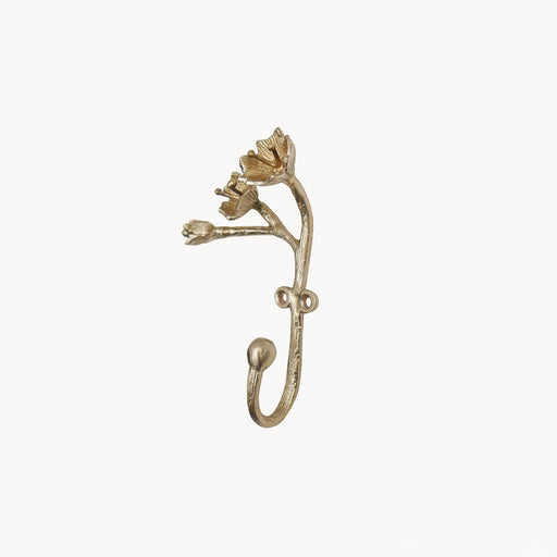 Brass Ava Blossom Wall Hook
