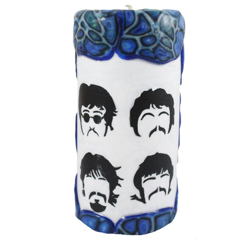 The Beatles Veneer Candle - 4X8 - Candlestock.com