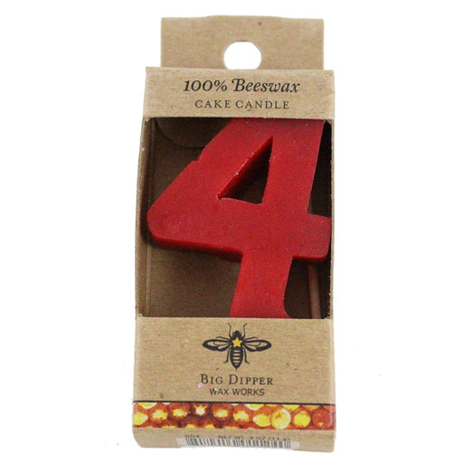 Beeswax Birthday Number Candle - Candlestock.com