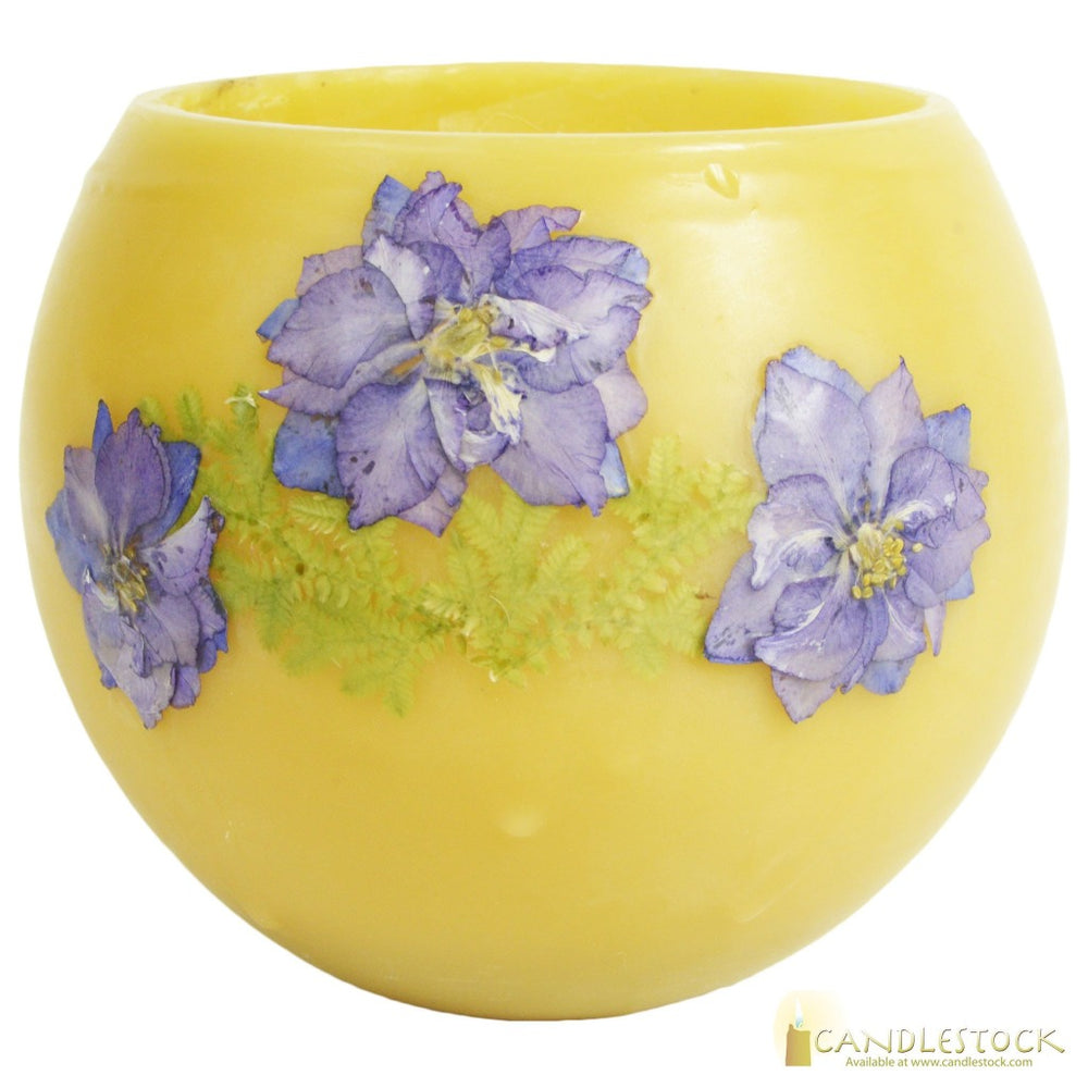 Beeswax Bowl With Flower - Candlestock.com