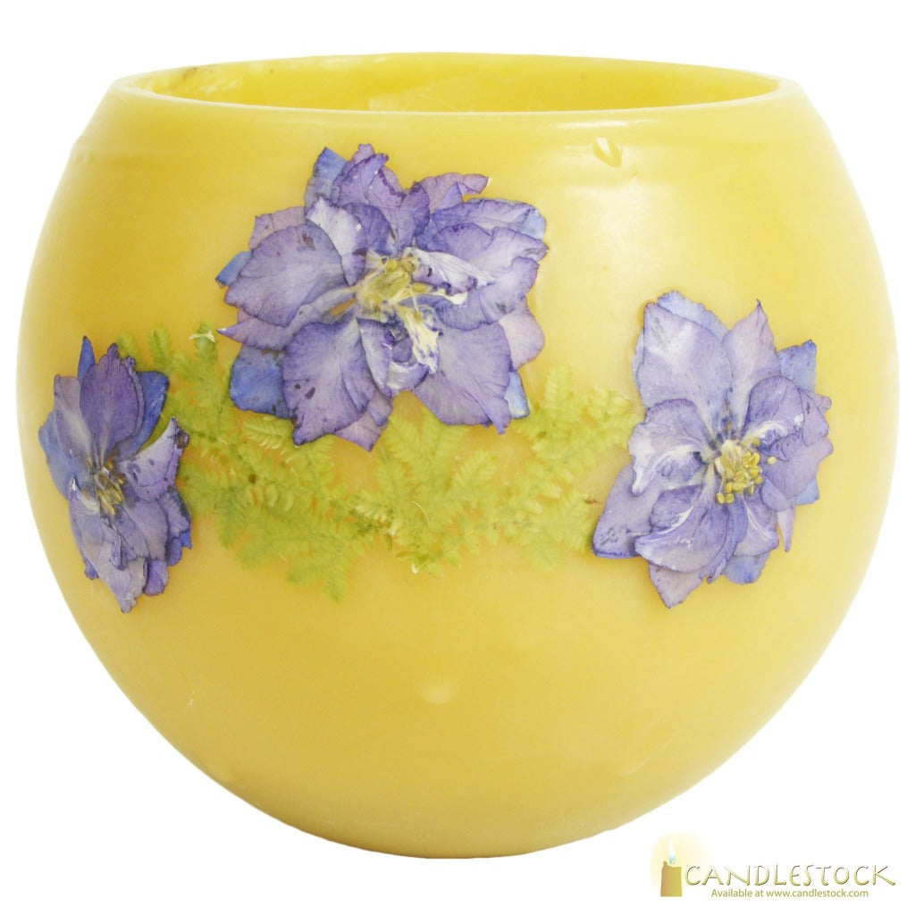 Beeswax Bowl With Flower In Multiple Sizes