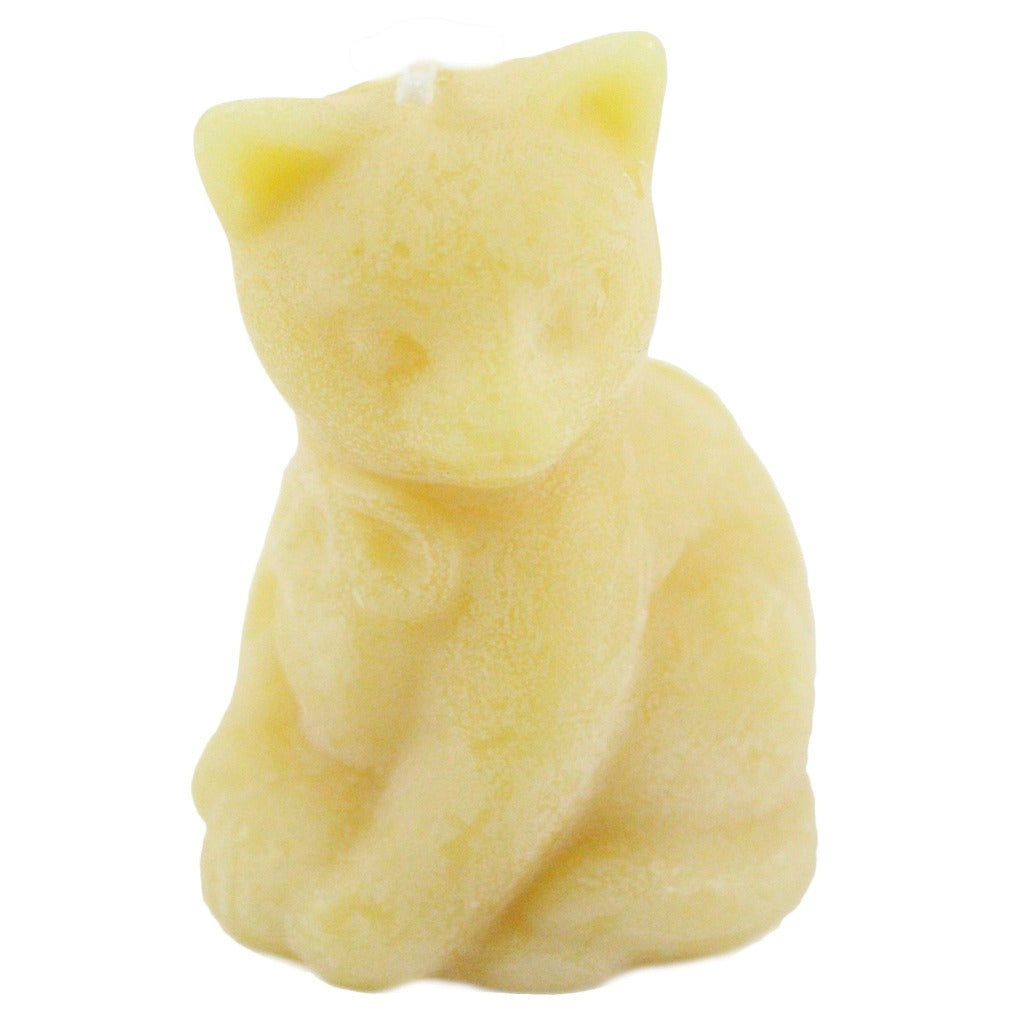 Beeswax Mini Cat Candle - Candlestock.com