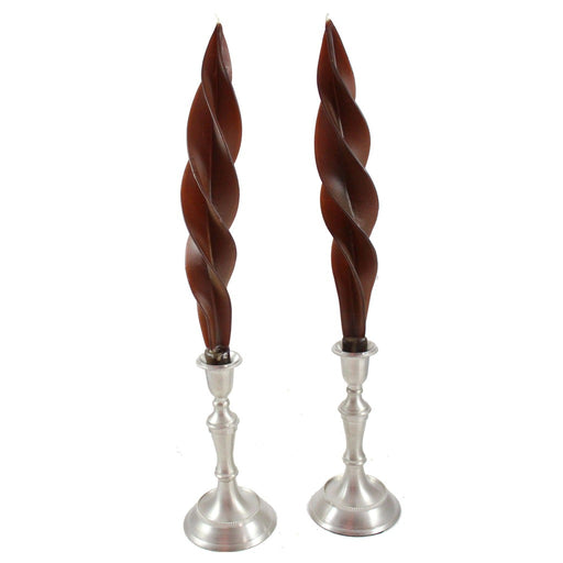 Beeswax Feather Taper Candle  - 12 inches - Candlestock.com
