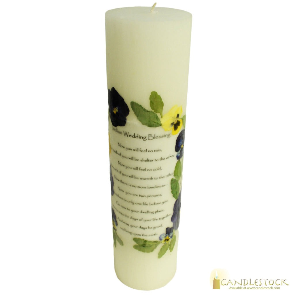 Beeswax Indian Wedding Pillar Candle - 12 inches - Candlestock.com