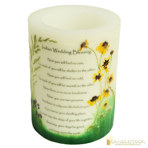 Beeswax Indian Wedding Candle With Votive Holder