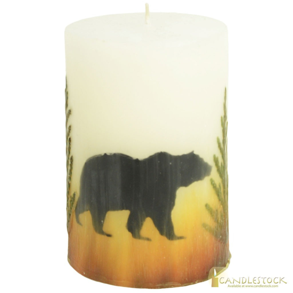 Beeswax Nature Bear Pillar In Multiple Sizes
