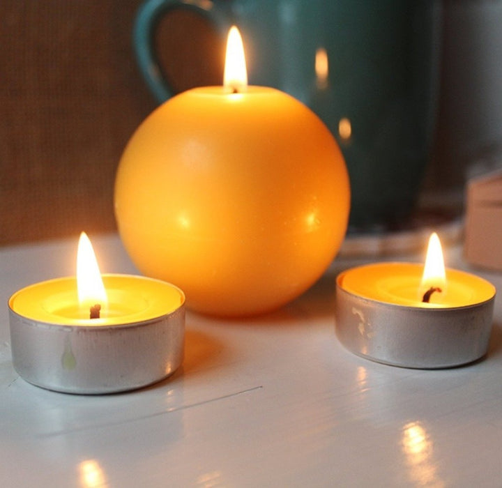 Each ball candle is handmade with pure fine all natural beeswax that will burn cleaner, brighter and more pure. - candlestock.com